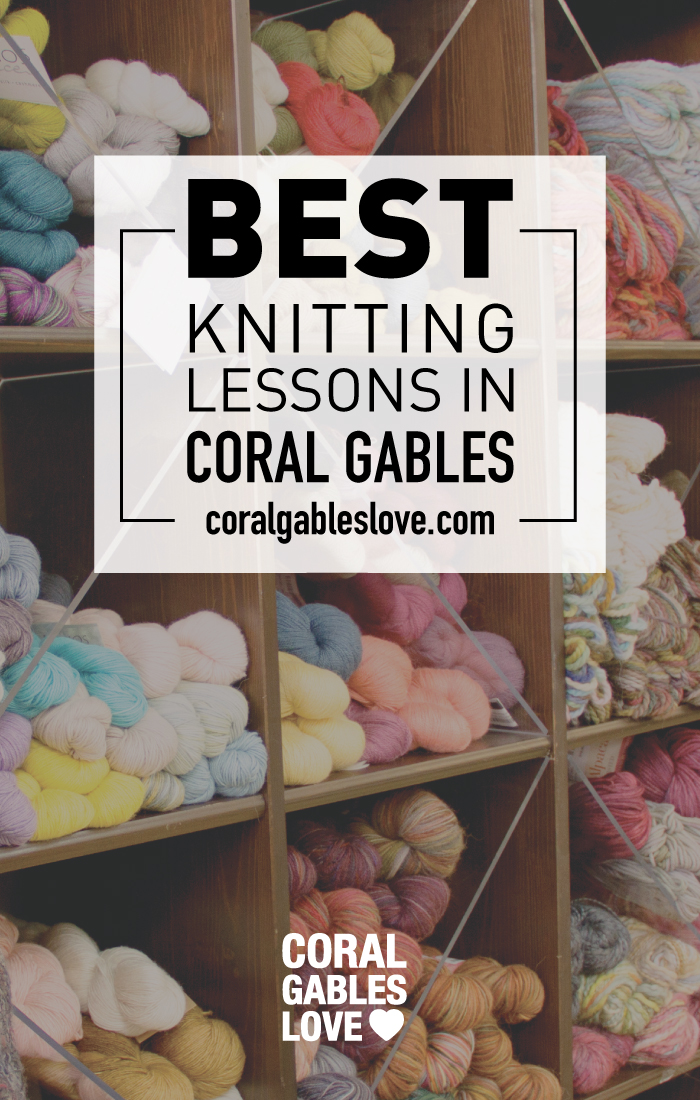If you have been looking for private knitting lessons in the Coral Gables or South Florida area, then you are in luck. The Knitting Garden is a friendly place to take knitting or crochet lessons. Annie and Virginia are there to help you, whether you want to learn technique or you want to accomplish a specific project.