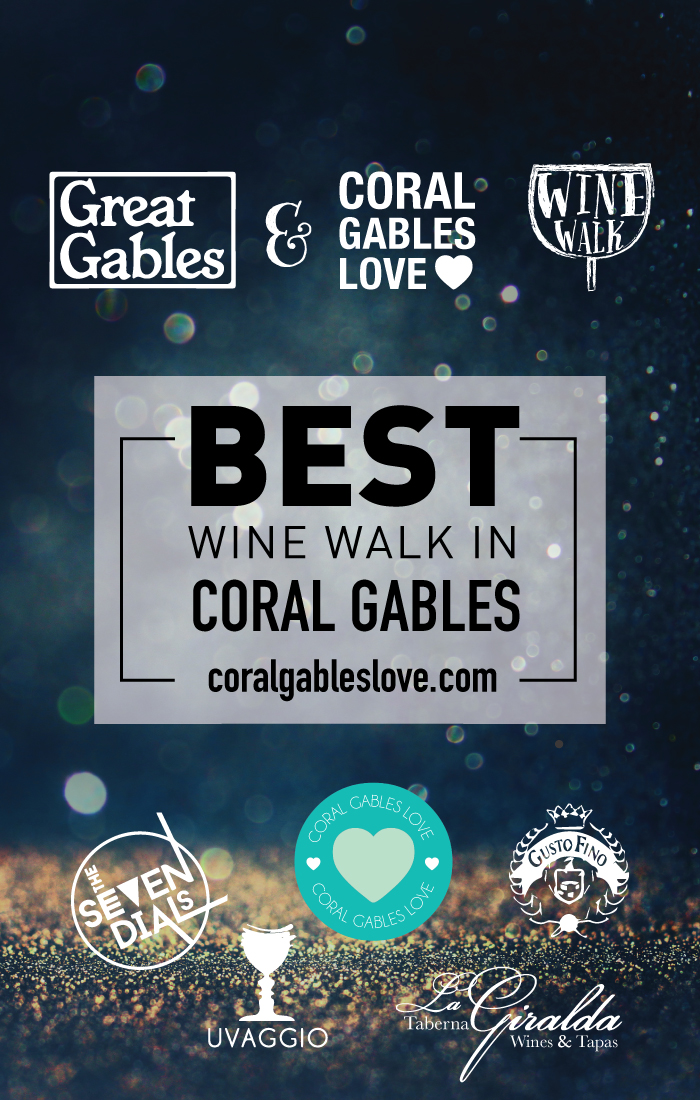 One of the best things to do in Miami is the Coral Gables Love Wine Walk.