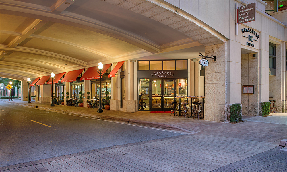 Brasserie Central is a French restaurant located inside Merrick Park in Coral Gables.