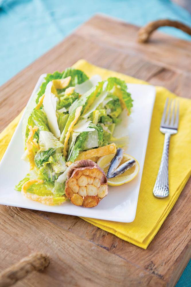 Ortanique on The Mile Lemon-Roasted Garlic Caeser Salad