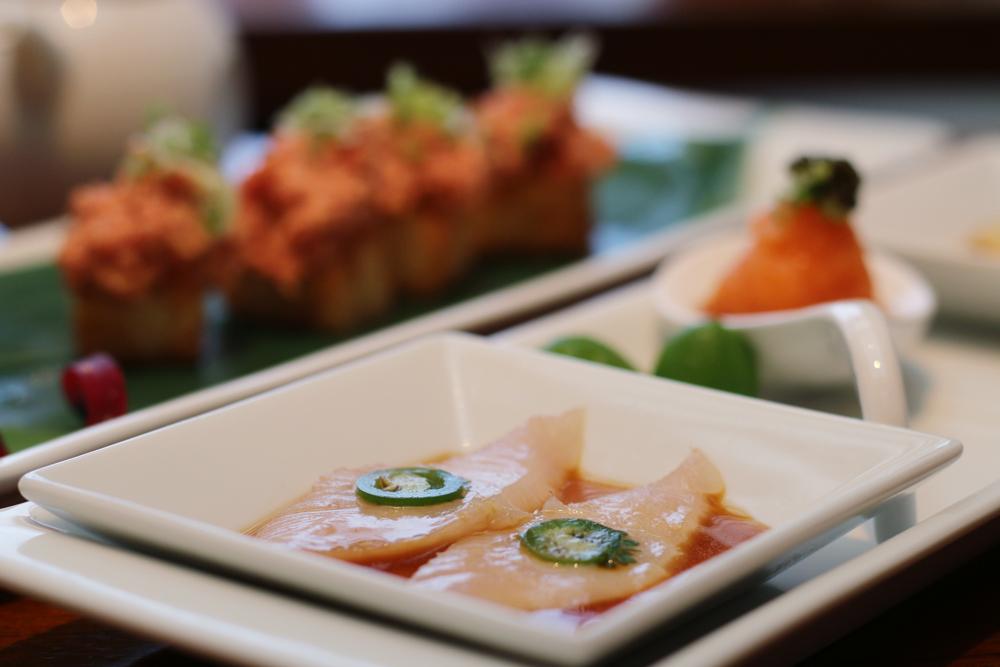 Nobu Miami at Eden Roc Hotel prix-fixe menu Yellow Tail with Jalapeno