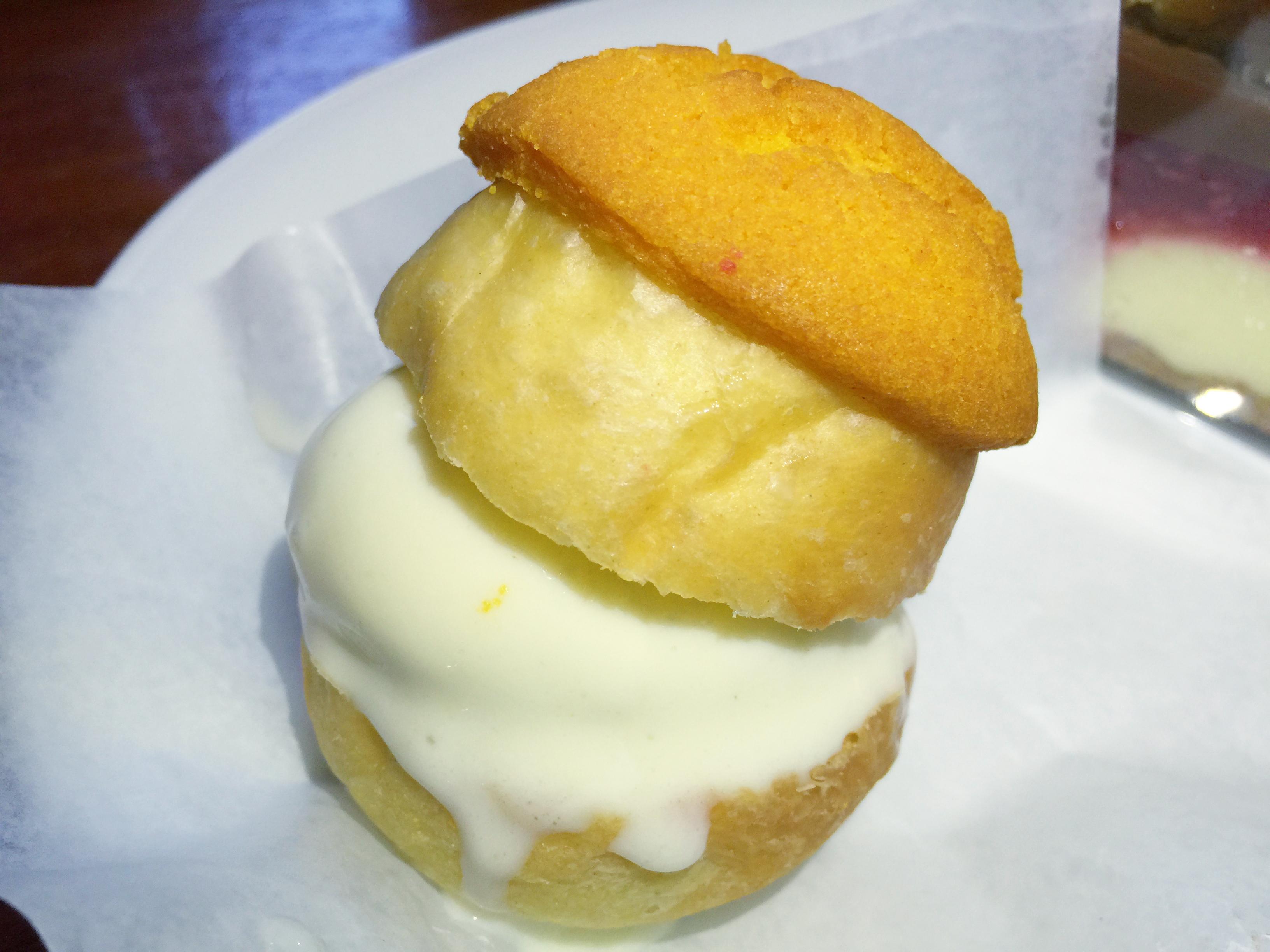 The Dutch Miami pastry puff with coconut ice cream