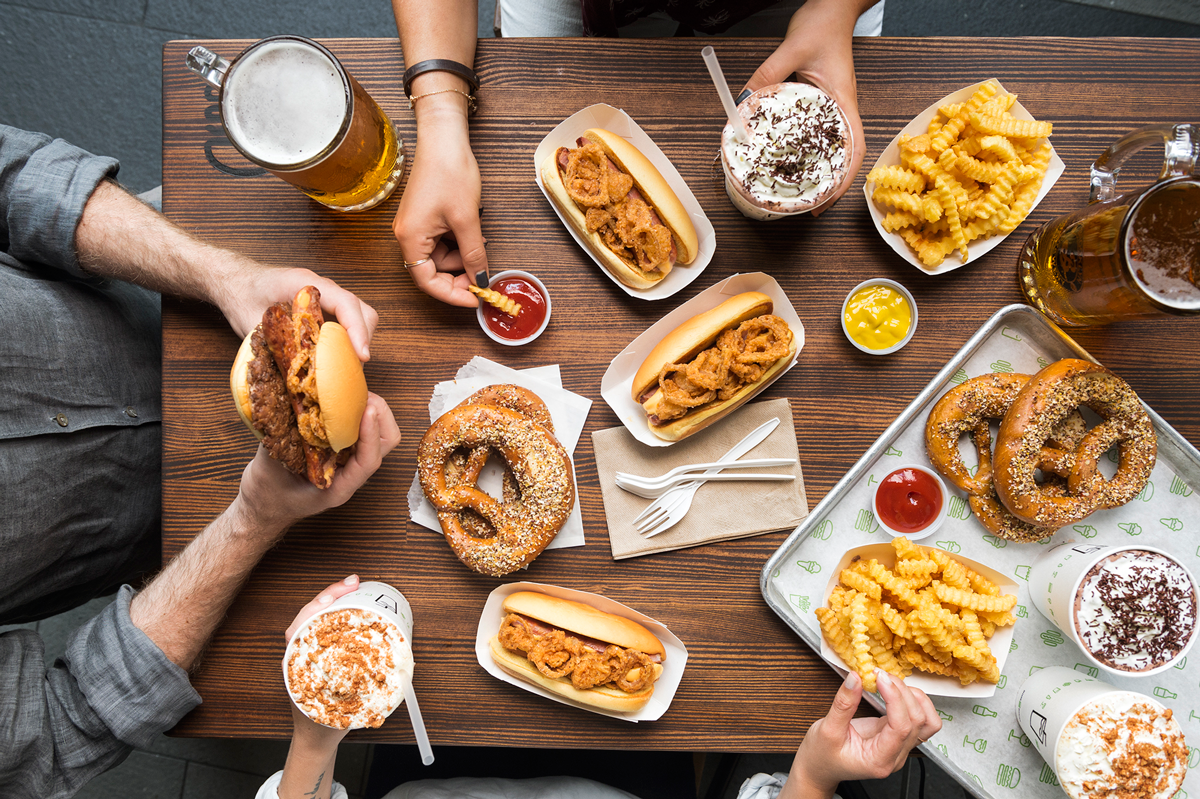 Shaktoberfest Bavarian inspired menu and Shake Shack. Click to read more or pin and save for later!