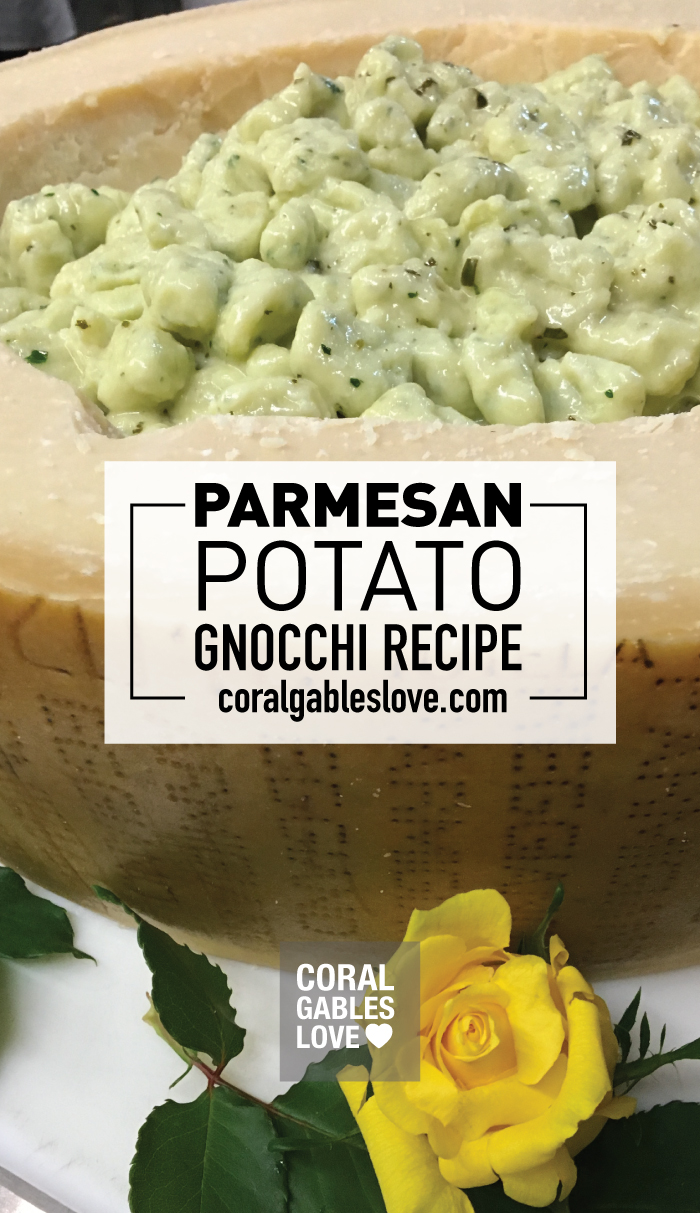 Parmesan Potato Gnocchi Recipe from The Biltmore's executive chef Dave Hackett in Coral Gables, Florida. Click to read more or pin and save for later! Miami