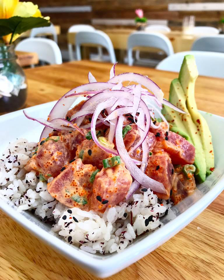 Ahi Tuna Poke Bowl PokeBao restaurant Coral Gables near Miami, Florida