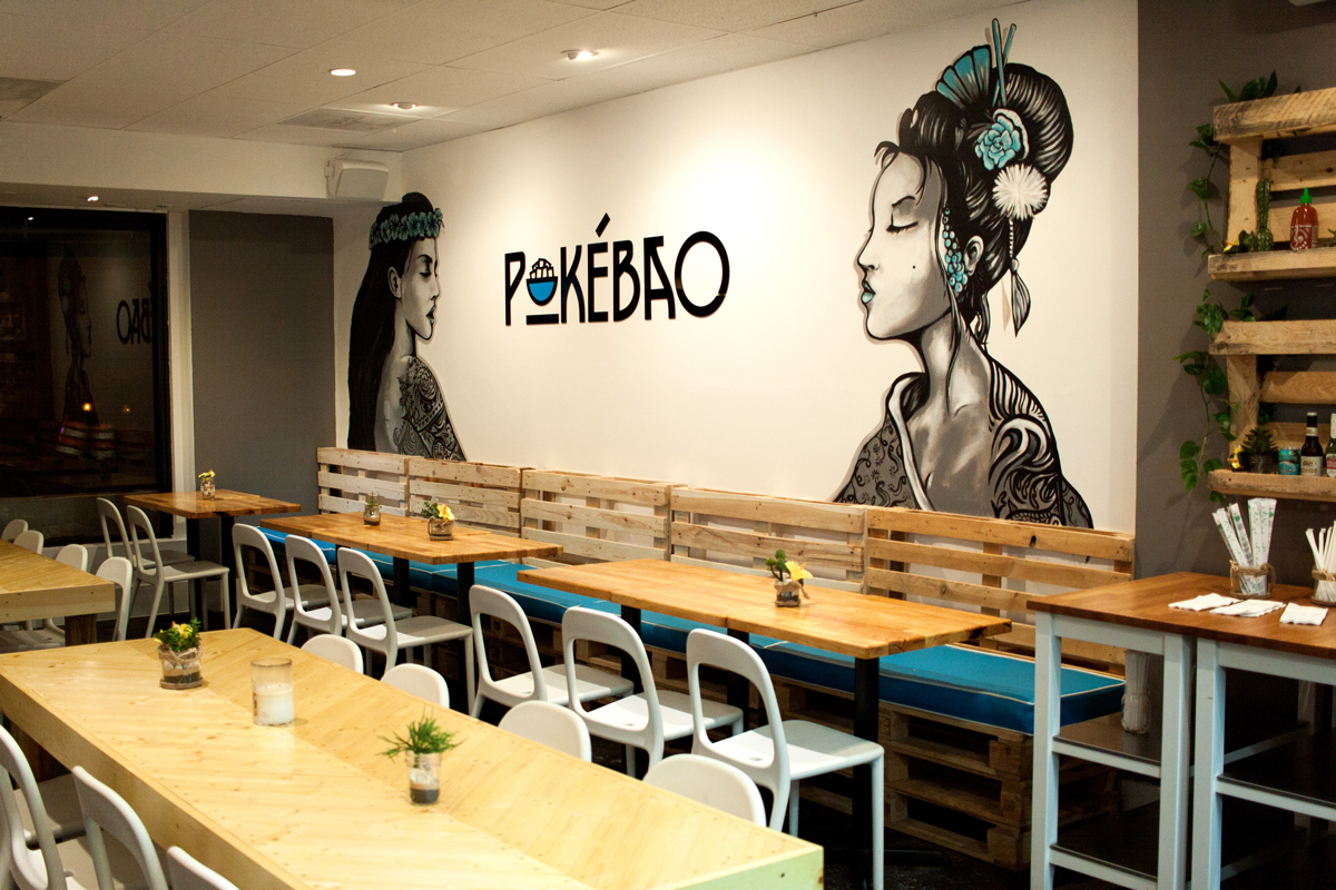 PokeBao restaurant Coral Gables near Miami, Florida