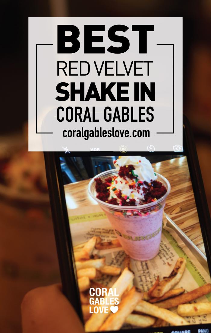 Best Red Velvet Milkshake in Coral Gables, Florida. Miami