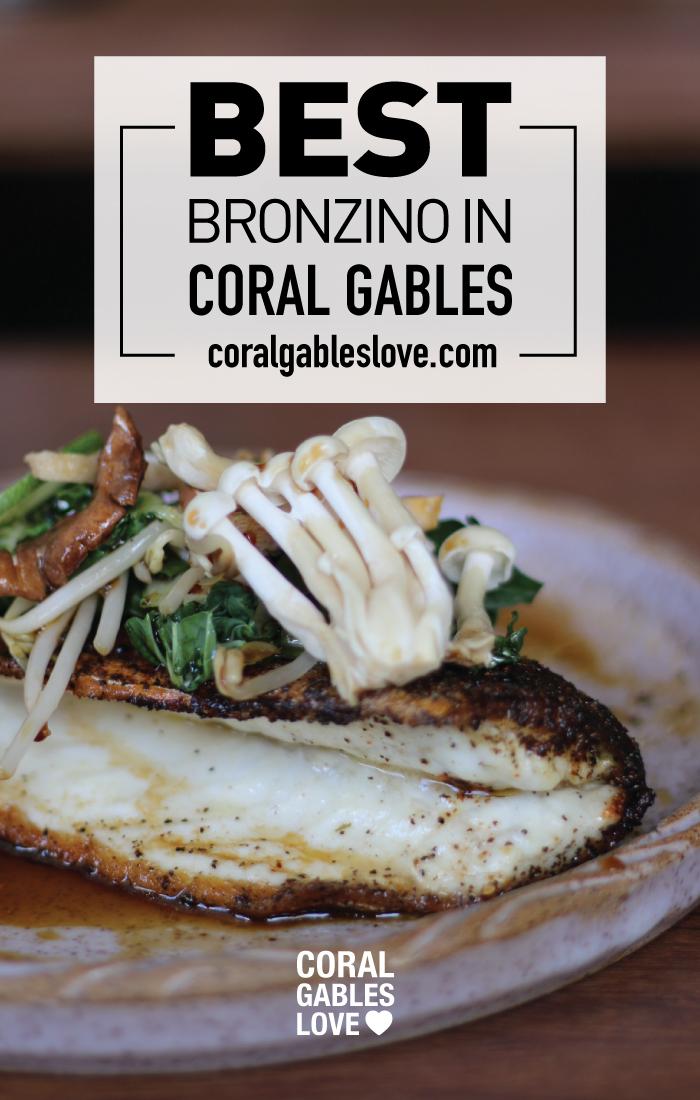 Best Steamed Bronzino in Coral Gables. Mediterranean fish in Miami