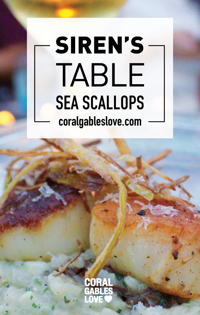 Sea Scallops from Sirens Table Ft. Lauderdale Restaurant with a view