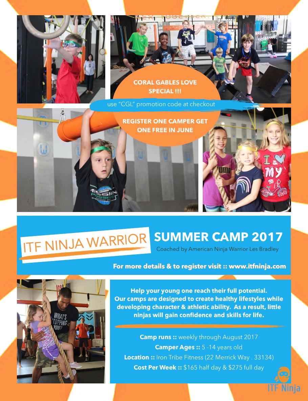 Iron Tribe Fitness Ninja Warrior Summer Camp for Kids