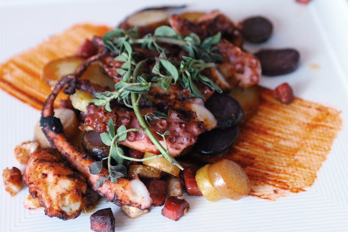 House Kitchen & Bar in Coral Gables serves the best spicy, grilled octopus.