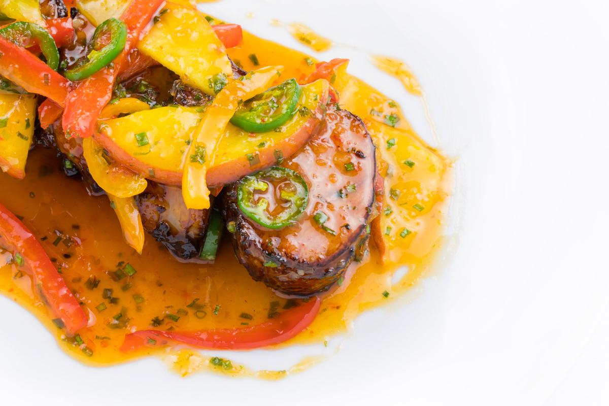 Miami Chef Adrianne's Chili & Summer Peach Pork Tenderloin Recipe