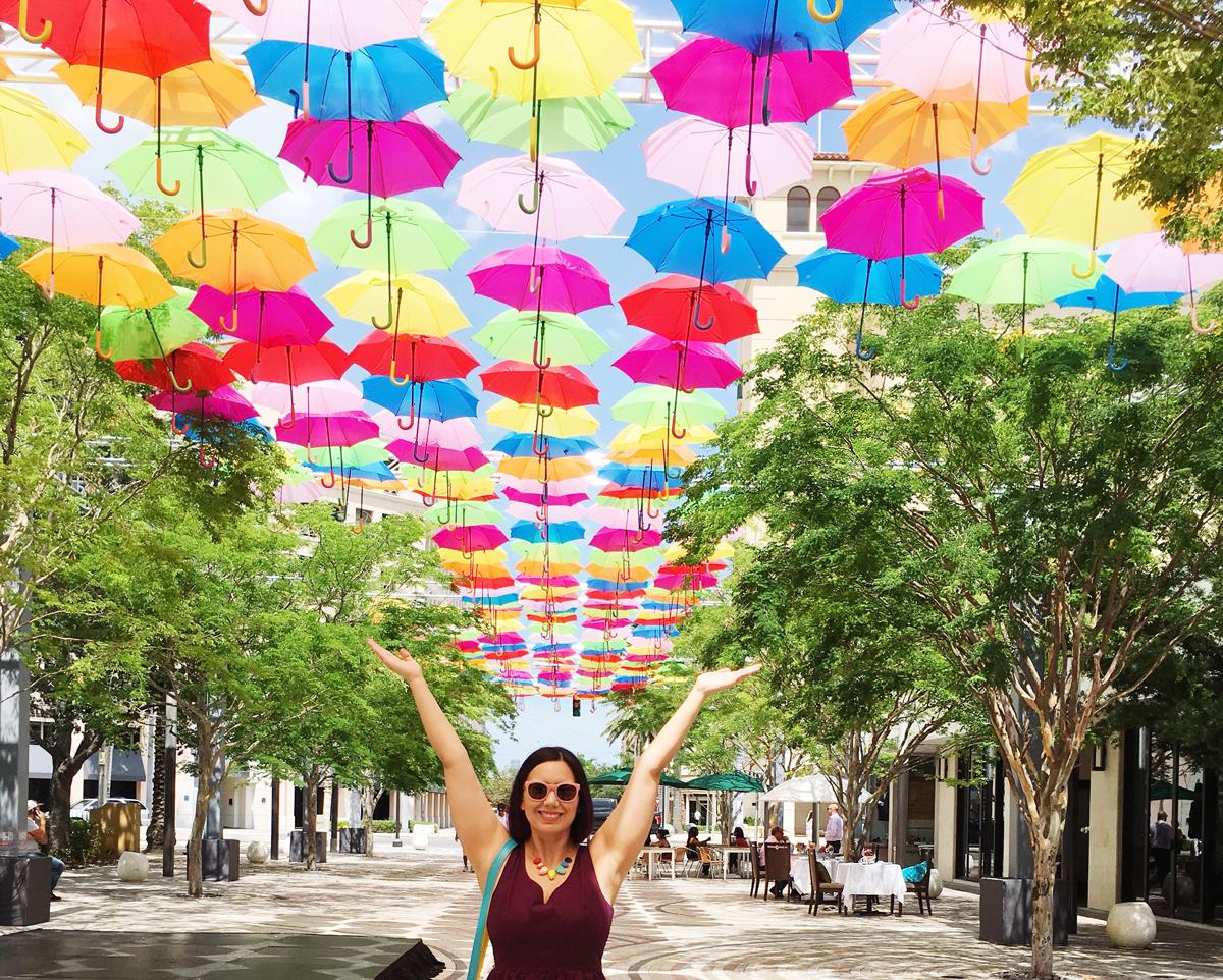 Miami Umbrella Sky Project - Instagram Hot Spot. Add to your bucket list when visiting Miami, Florida.