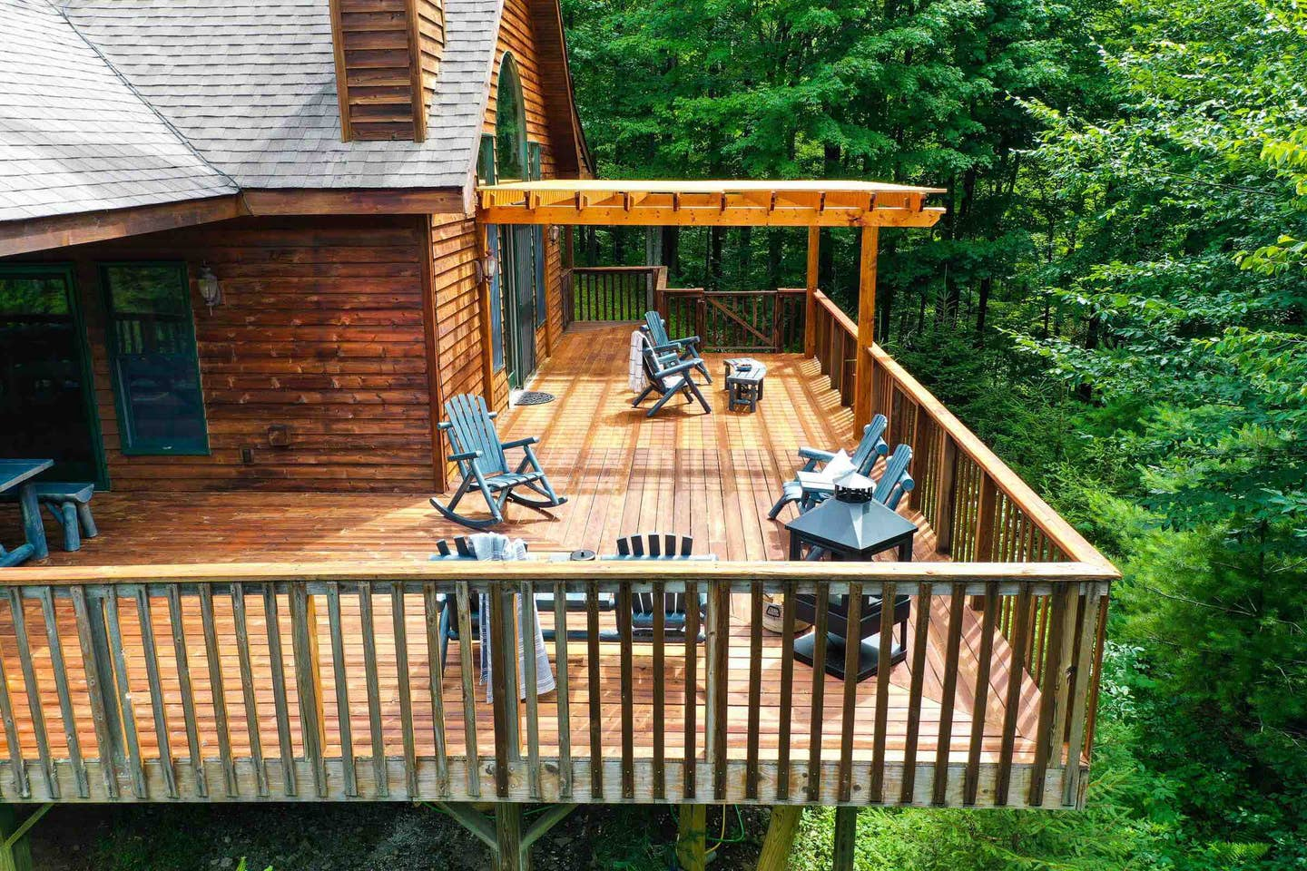 Where To Stay in West Catskills NY - Hirsch Manor luxurious cabin in the forest at the base of the mountain