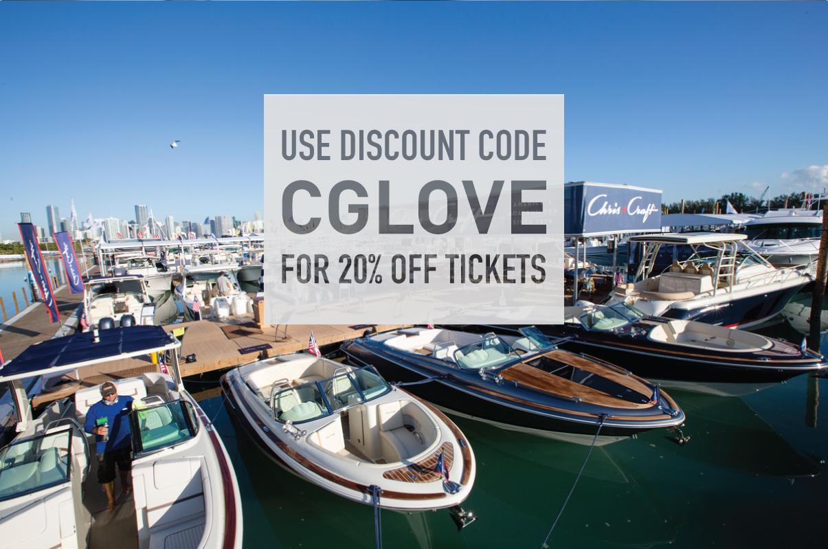 Miami International Boat Show 20% Off Discount Code CGLOVE