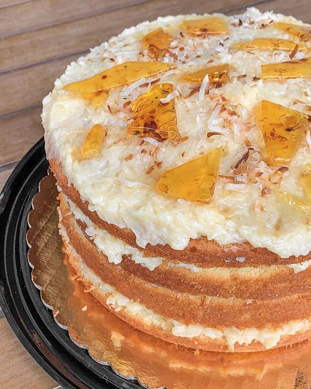 Casa Gioia Dominican Coconut Birthday Cake Miami