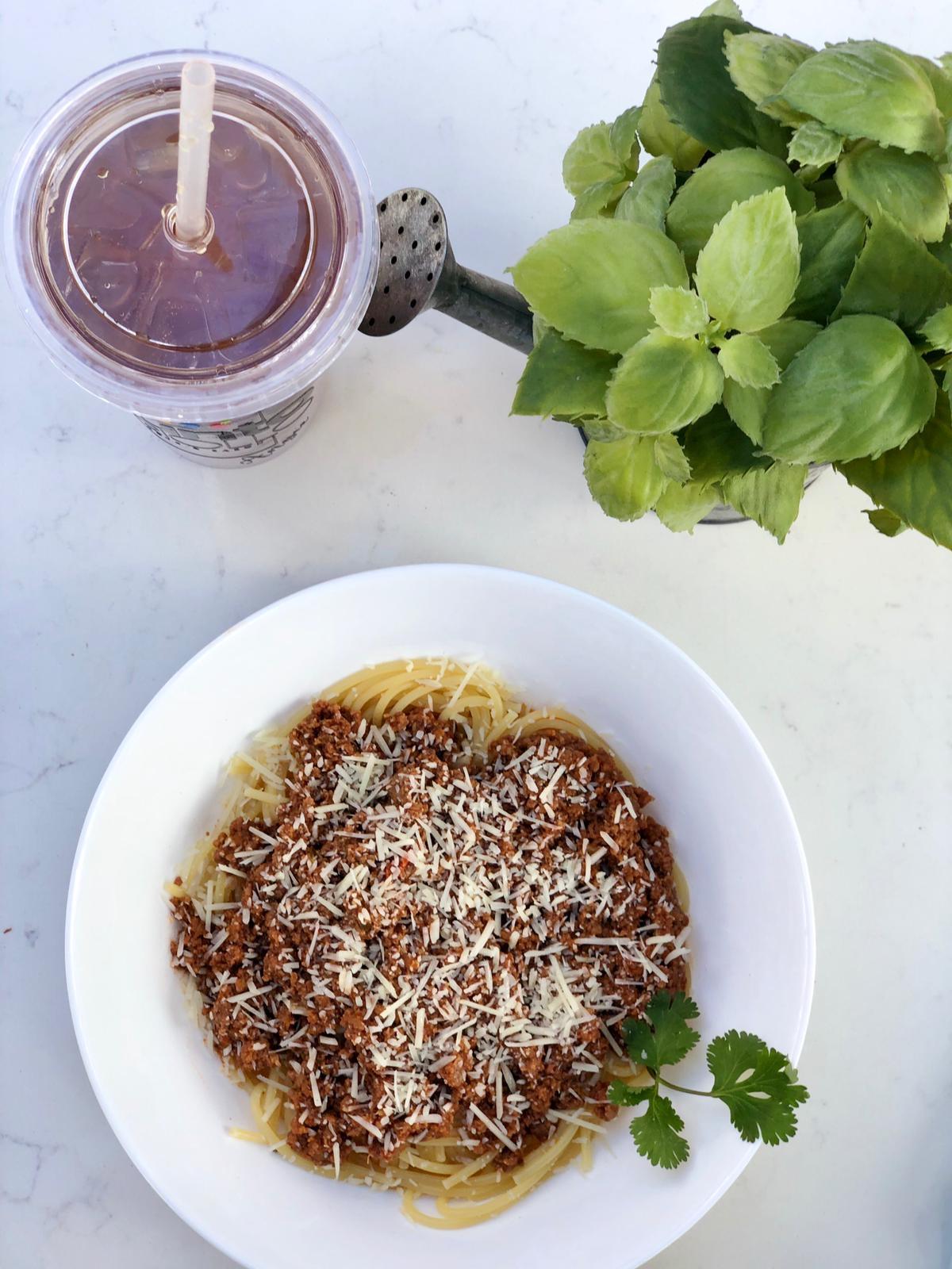 Punto Criollo Spaghetti Bolognese only Venezuelan restaurant in Coral Gables, Florida