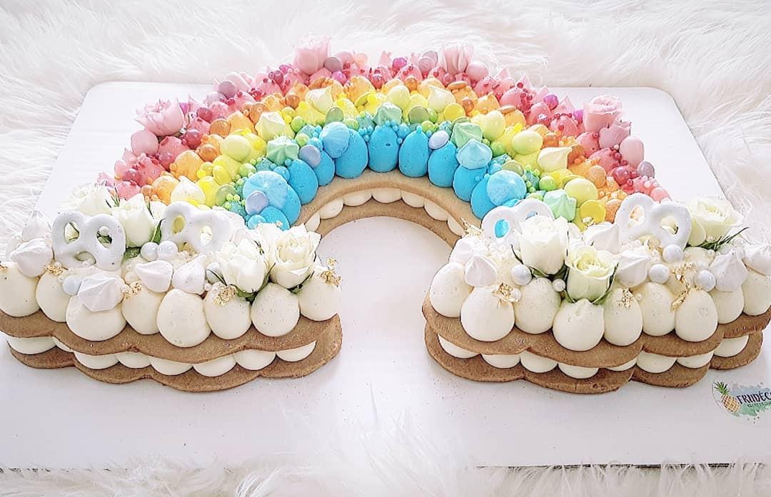 Rainbow cookie cake from frudeco in miami shores, florida