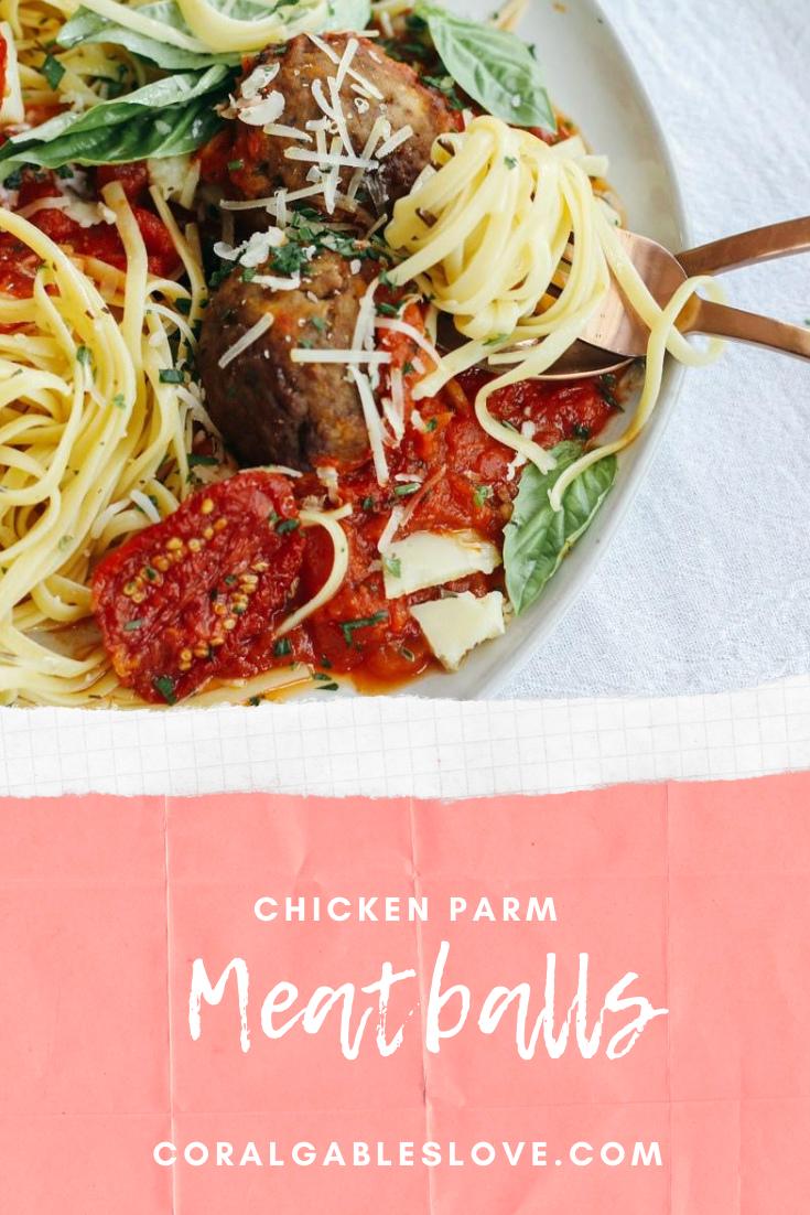 Chicken Parmesan Meatballs Recipe