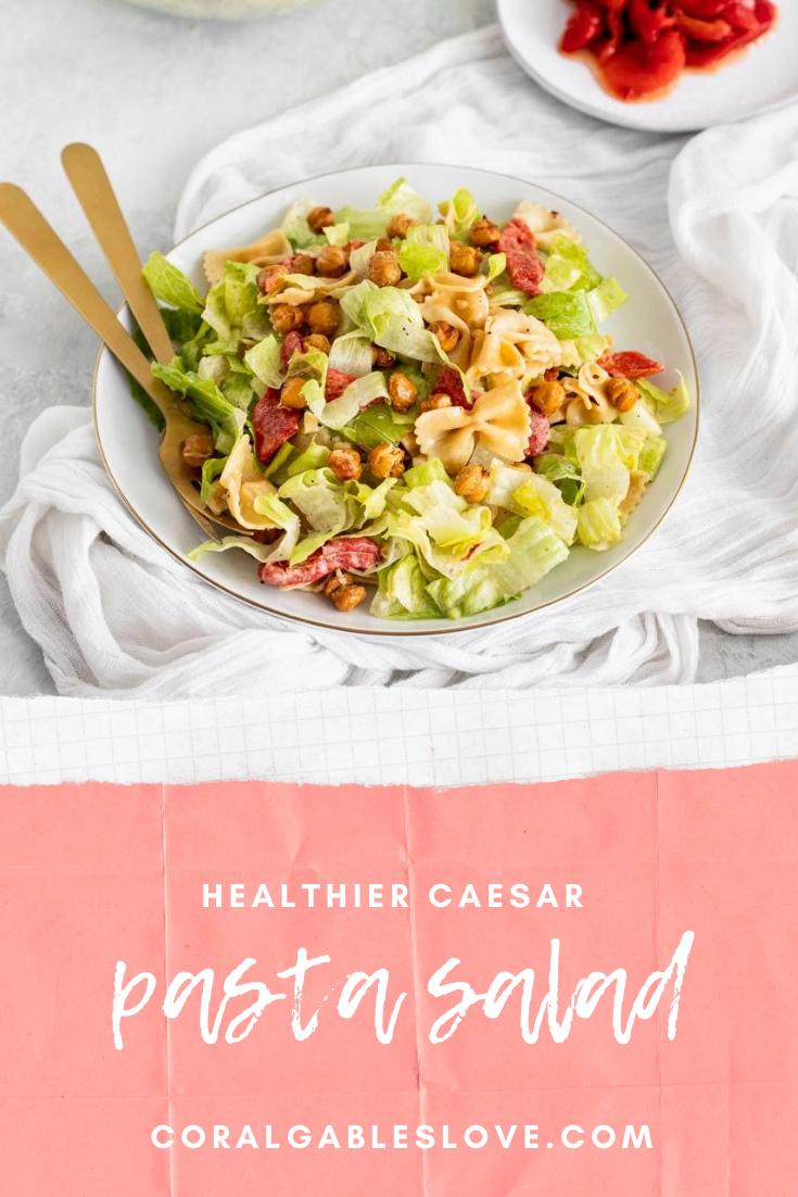 Healthy Caesar Pasta Salad Recipe