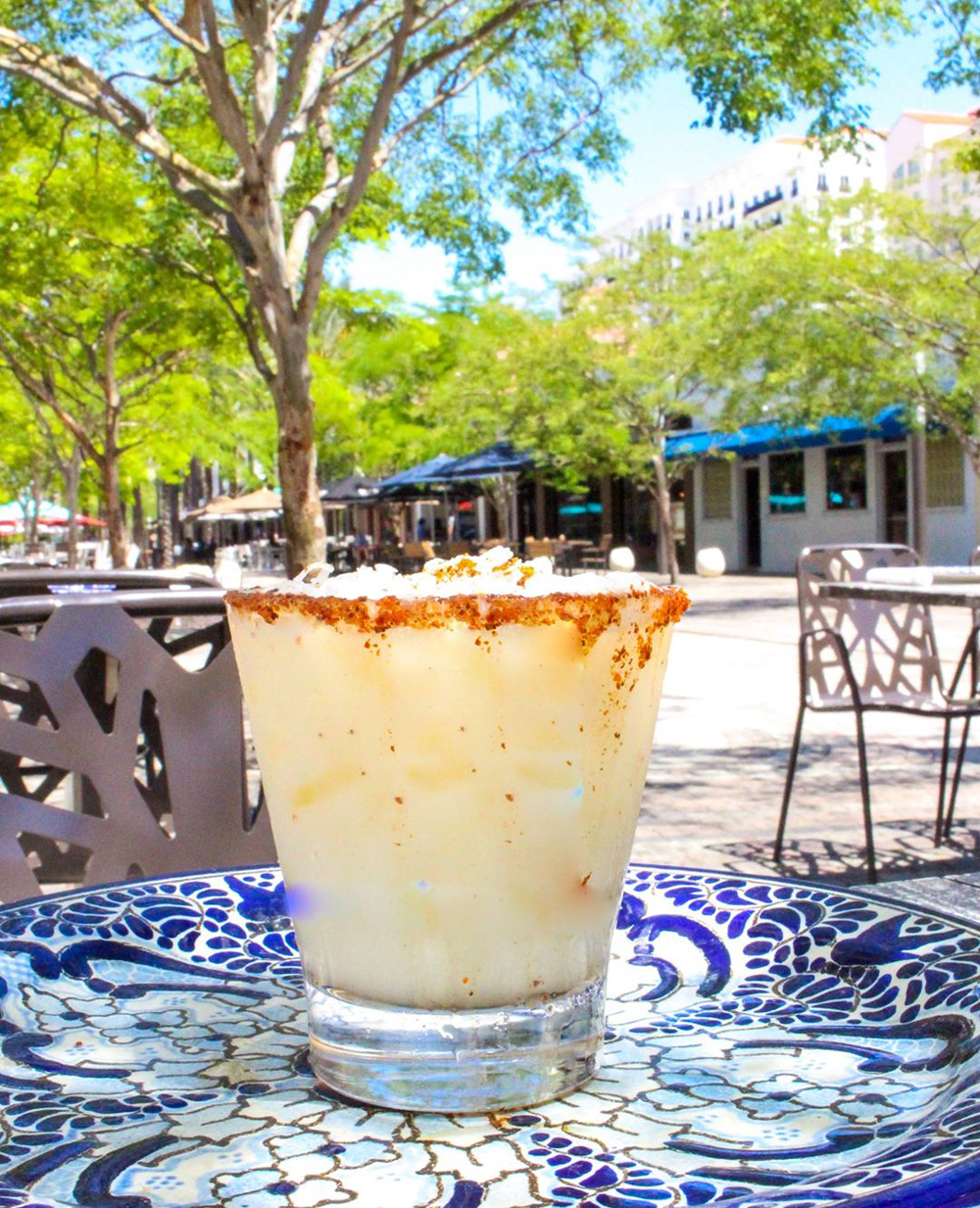Miami Cocktails Coconut Margarita to go at Cocina Talavera restaurant in Coral Gables