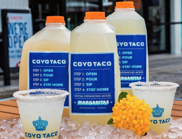 Miami Cocktails to go margaritas from Coyo Taco restaurant in Coral Gables