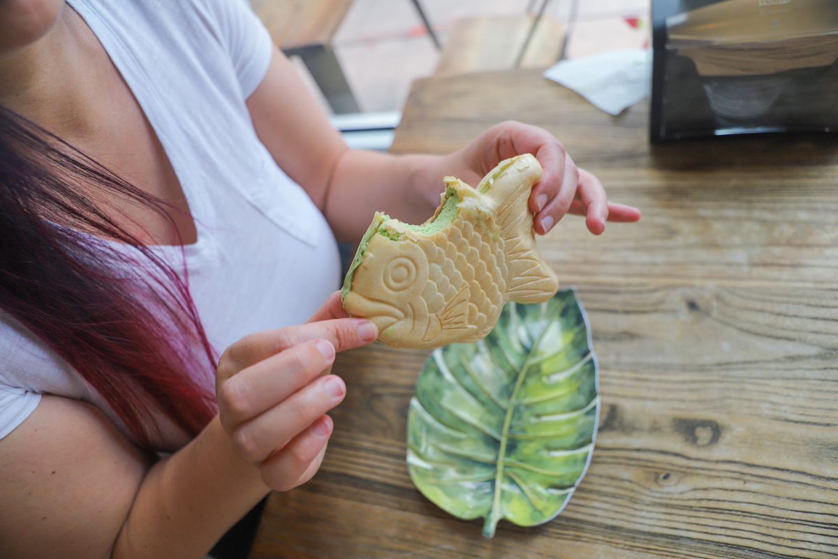 Fish Shaped Ice Cream Sandwich in Miami. Matcha and Boba Flavor in Coral Gables