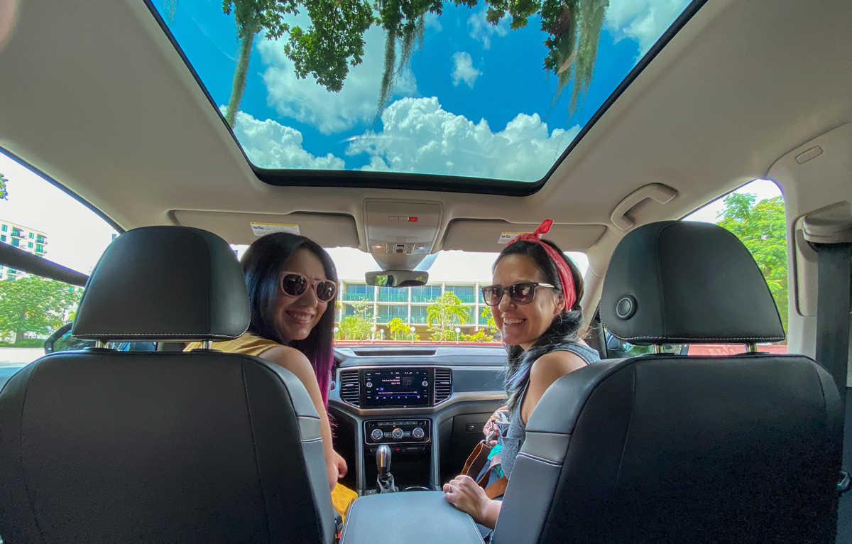 Fun Things To Do in Miami - Drive Around Coral Gables Douglas Entrance in VW Atlas SUV