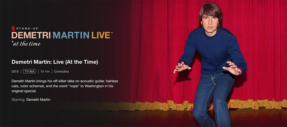 Must-Watch Comedy Stand up Specials To Watch on Netflix Demetri Martin: Live (At the Time)