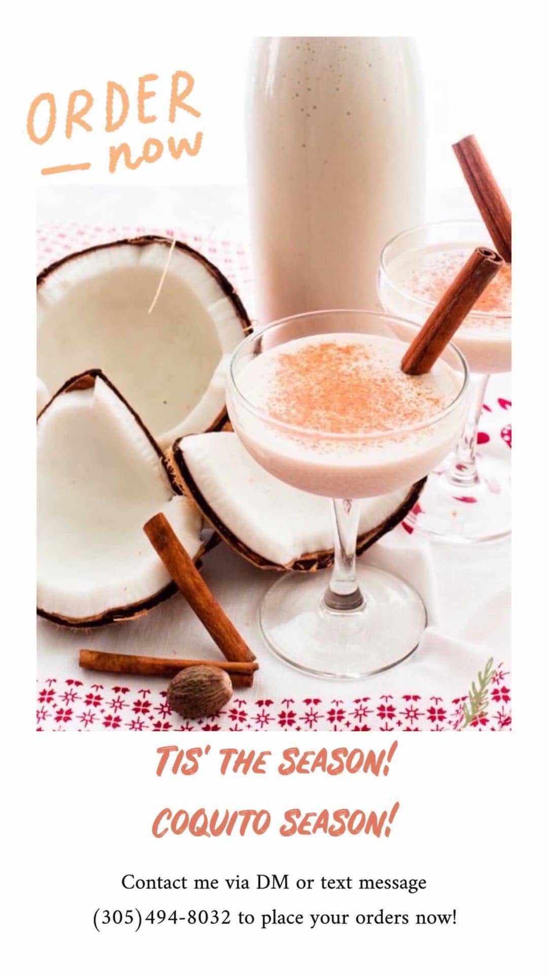 Where to get coquito in Miami: Maylen Rodriguez