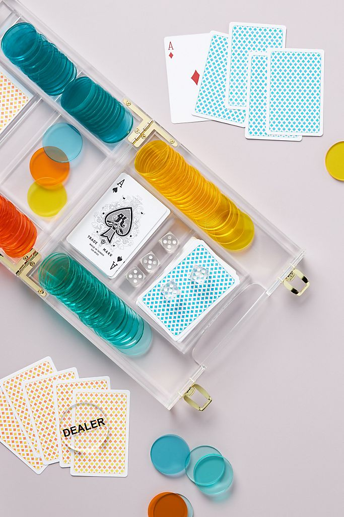 best gifts for her colorful poker lucite gift set
