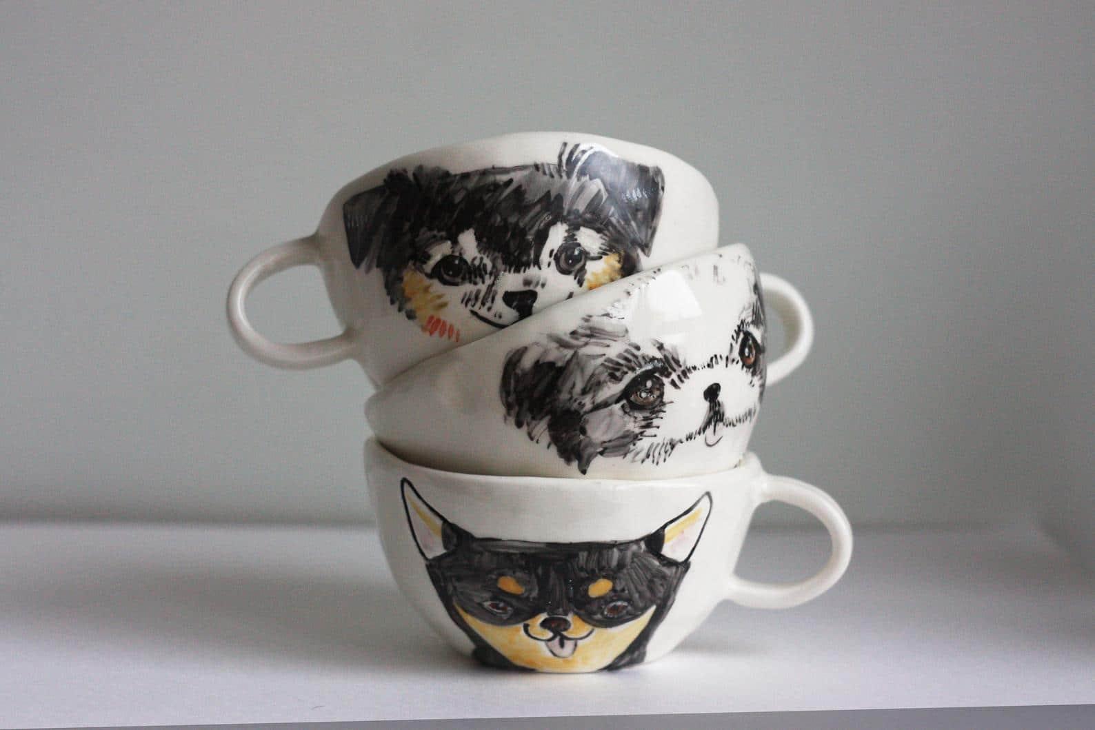 Best Gifts For Her Custom Pet Portrait Mug