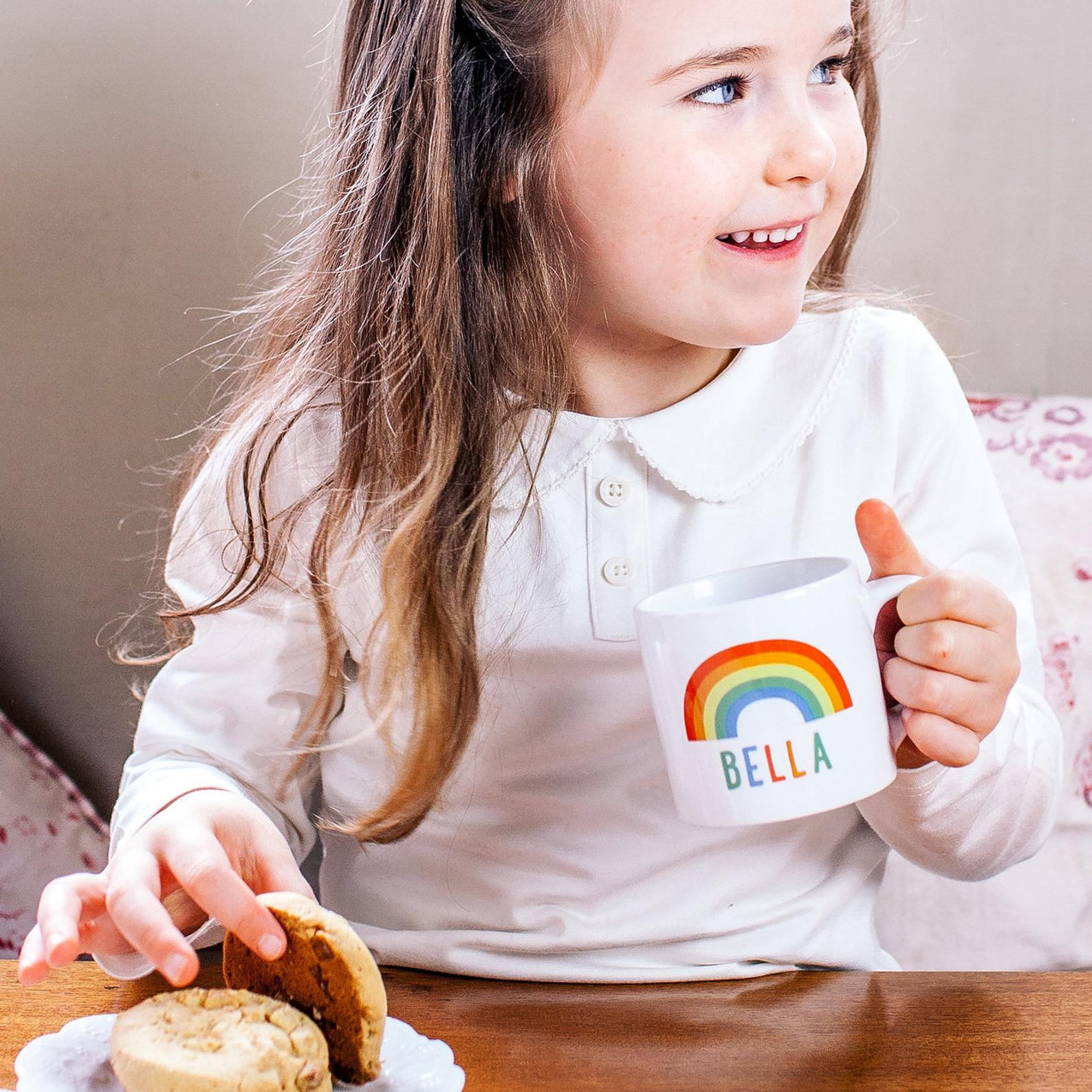 best gifts for kids 2020 personalized rainbow childrens mug