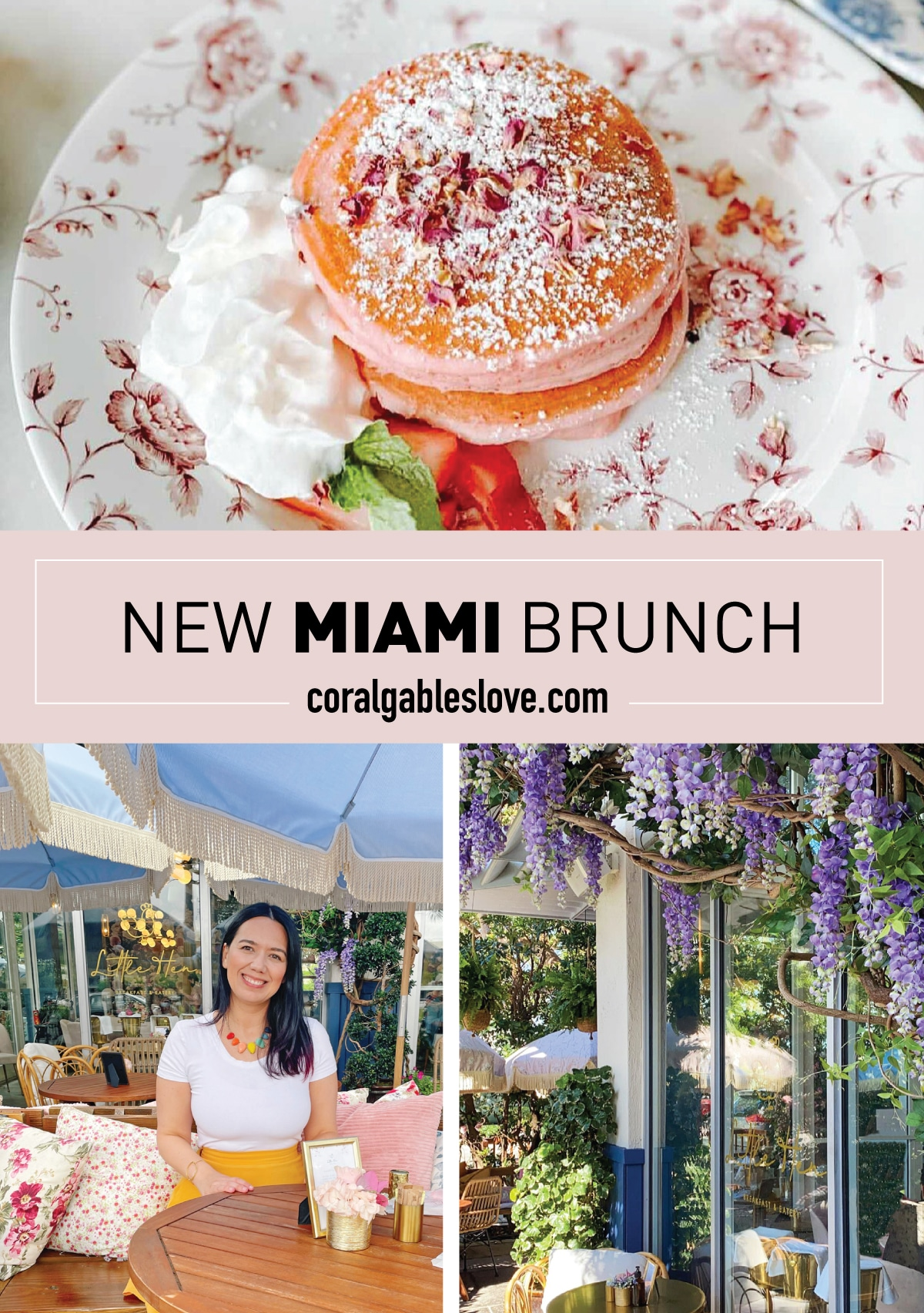 Miami Brunch Hostspot Little Hen in Midtown Miami with Instagrammable location and food outdoor seating