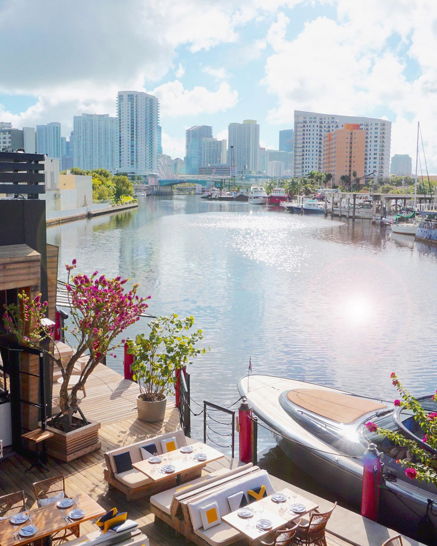 Best Miami Brunch Spot by the water. Seaspice on the Miami River