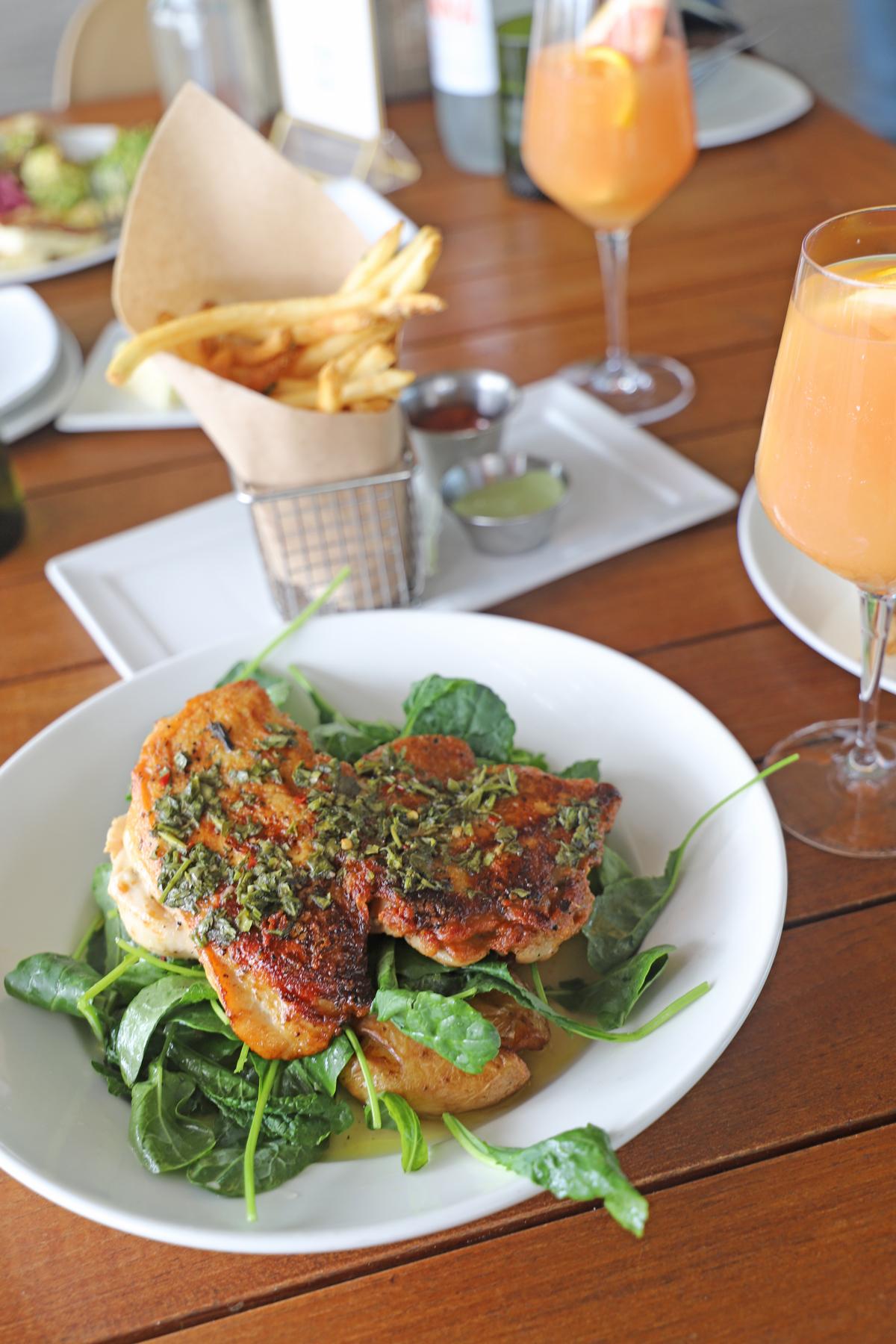 Best Brunch Spot Miami by the water - Verde at PAMM crispy chicken