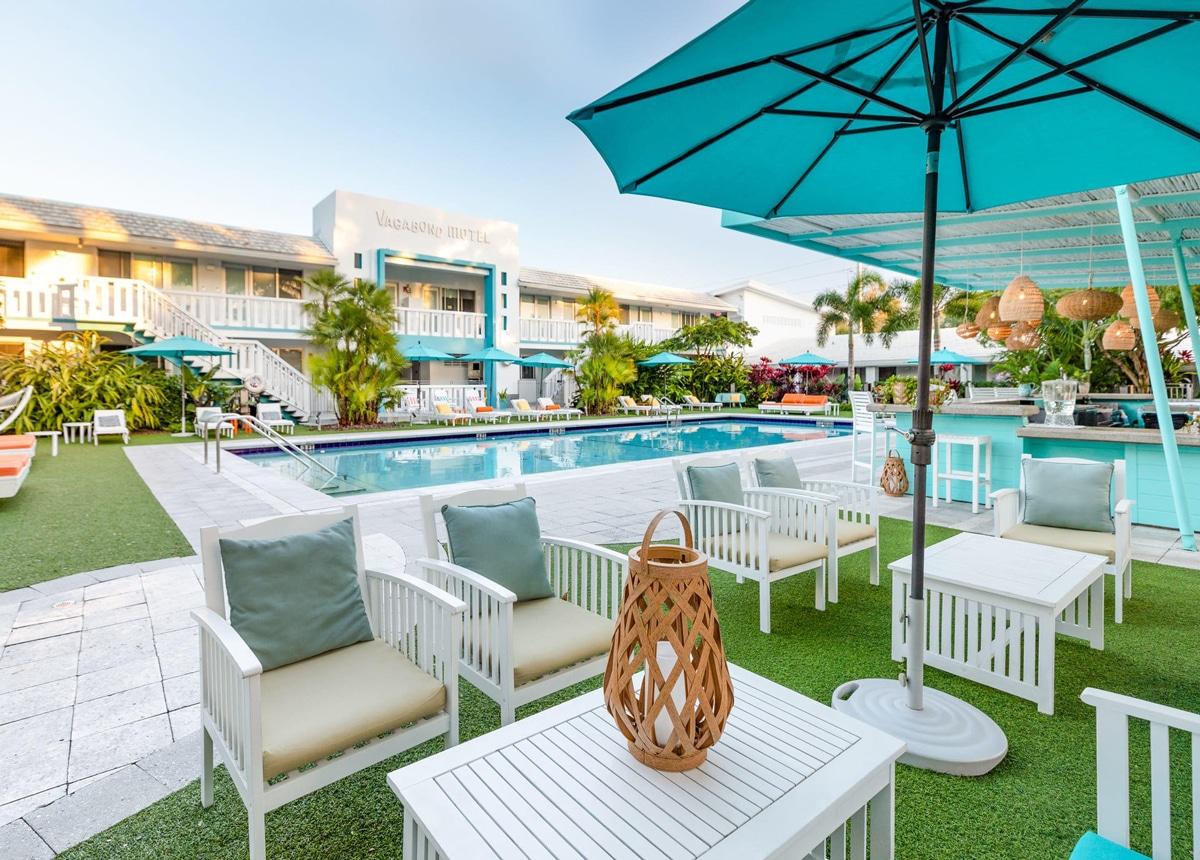 Vagabond Mr Mandolin MiMo Miami Historic District Hidden Gem REstaurant for Brunch pool bar
