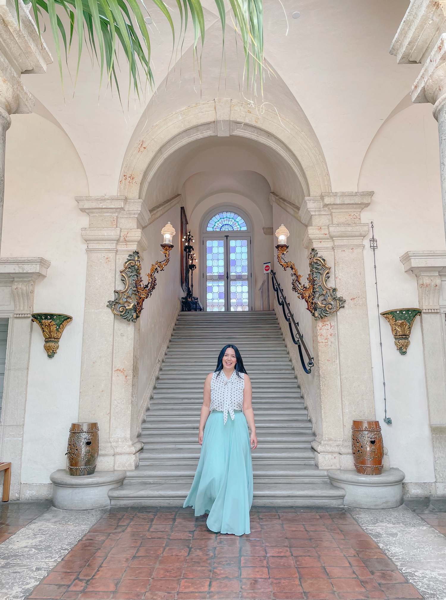 Best Things To Do in Miami: Vizacaya Museum & Gardens inside staircase
